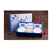 A Generation Gift Company New Blue And White Porcelain Tableware Ceramic Tableware Suit Chinese Promotions