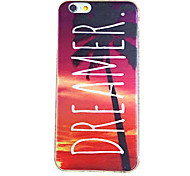 For iPhone 6 Case / iPhone 6 Plus Case Ultra-thin / Pattern Case Back Cover Case Word / Phrase Soft TPUiPhone 6s Plus/6 Plus / iPhone