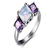 Ring,Band Rings,Jewelry Stainless Steel Fashionable Daily / Casual Silver / Purple 1pc Women