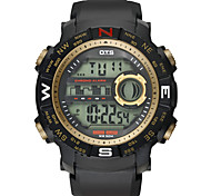 OTS Luxury Brand Mens Sports Dive 50m Digital LED Military Watch Men Fashion Casual Electronics Wrist watches Hot Clock