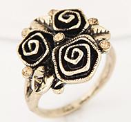 Women European Style Fashion Vintage Flower Statement Ring
