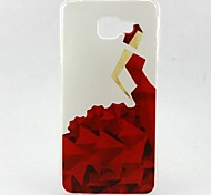 EFORCASE® Painted Red Dress TPU Phone Case for Samsung Galaxy A7(2016) A5(2016) A5 A3(2016)