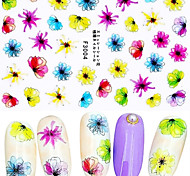 1 Nail Art Sticker Adesivi 3D unghie Fiore / Astratto makeup Cosmetic Nail Art Design