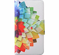 Semicircle Flower Pattern PU Material New High-End Card Holder Phone Case For Samsung Galaxy J3 (2016) J5 J5 (2016)