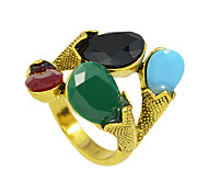 Gold Claw Resin Stone Big Finger Rings