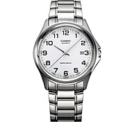 Men's Sport Watch Dress Watch Fashion Watch / Quartz Stainless Steel Band Casual Silver