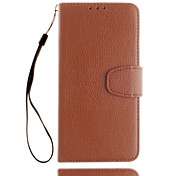 For Card Holder / Wallet Case Full Body Case Solid Color Hard PU Leather for iPhone 7 Plus / iPhone 7