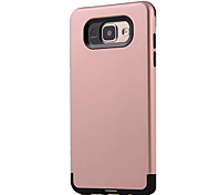For Samsung Galaxy A7 (2016) A9 Shockproof Case Back Cover Case Solid Color Hard PC A5 (2016) A3 (2016) A7 A5