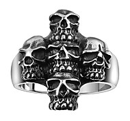 Ring Jewelry Steel Skull / Skeleton Statement Jewelry Silver Jewelry Halloween Daily Casual 1pc