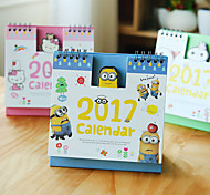 Mini Cute Cartoon Desktop Office Notebook Calendar