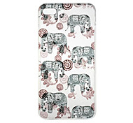 For iPhone 7 Case / iPhone 7 Plus Case / iPhone 6 Case Pattern Case Back Cover Case Elephant Soft TPU AppleiPhone 7 Plus / iPhone 7 /