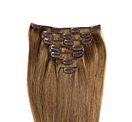 """7PCS/8PCS 100% Remy Real Human Hair Clip In Extensions 14""""-24"""" Straight 70G/100G many colours for women beauty"""