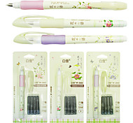 Snow Can Change 5025 Capsule Straight Liquid Type Pen Ink Pen To Send Four Pen Ink Sac Students