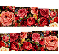 1 sheet Sexy Red Rose Water Transfer Nail Art Stickers