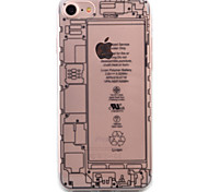 For iPhone 7 Case / iPhone 6 Case / iPhone 5 Case Transparent / Pattern Case Back Cover Case Geometric Pattern Soft TPU AppleiPhone 7