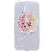 A Flower Pattern High Permeability TPU Material Phone Shell For Motorola G4 Plus X1