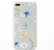 For iPhone 7 Case / iPhone 7 Plus Case / iPhone 6 Case Pattern Case Back Cover Case Flower Soft TPU AppleiPhone 7 Plus / iPhone 7 /