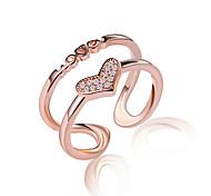 Женский Классические кольца Кольцо на кончик пальца Кристалл Имитация Алмазный Multi-Wear способы бижутерия Сексуальные платья Кроссовер