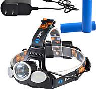 Luci Torce frontali LED 1000 Lumens Lumens 4.0 Modo Cree T6 18650 Dimmerabile / Ricaricabile / Angolare / Ultraleggero