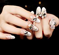 24Pcs Exquisite Diamond Shining Nails Patch 1Set
