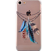 For iPhone 7 Case / iPhone 7 Plus Case / iPhone 6 Case Transparent / Pattern Case Back Cover Case Feathers Soft TPU AppleiPhone 7 Plus /