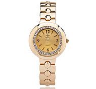 Mulheres Relógio Elegante Relógio de Moda Relógio de Pulso Quartzo / Lega Banda Casual Elegantes Legal Prata Dourada Dourado Prata