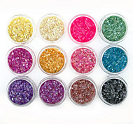 Nail Art Decoration 12 Color Shell Fragments 12PCS/SET