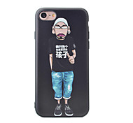 Cartoon People Pattern Painted Three-Dimensional Relief TPU Material Phone Shell For iPhone 7 7 Plus 6 6 Plus