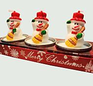 Vela do Natal 3pcs forma boneco bonitinho