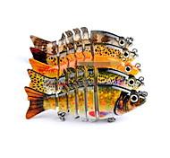 1 pc Esca Vibrazione Colori casuali 11 g Oncia mm pollice,Plastica dura Pesca a mulinello