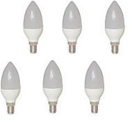 6PCS E14 8W 15 SMD 2835 680 LM Warm White C35 LED Candle Lights AC 85-265 V
