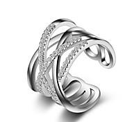 Жен. Классические кольца Кольцо на кончик пальца Кристалл Имитация Алмазный Уникальный дизайн Любовь Мода Кроссовер бижутерия