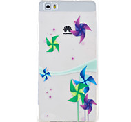 padrão TPU material de proteção do telefone moinho de vento para a Huawei Huawei y5 honra ii 5a y6 ii p9 Lite p8 Lite