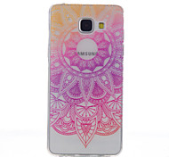 For Samsung Galaxy A5(2016) Lace Flowers Pattern High Permeability TPU Material Phone Case