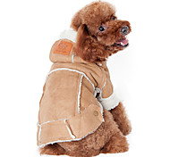 Dog Coat / Hoodie Brown / Coffee / Wine Dog Clothes Winter Solid Fashion / Keep Warm
