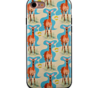 For iPhone 7 Case / iPhone 7 Plus Case / iPhone 6 Case Pattern Case Back Cover Case Animal Soft TPU AppleiPhone 7 Plus / iPhone 7 /