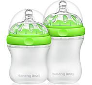 kumeng ребенок сверхширокоугольная шеи кремнезем Бутылочка для кормления гель для всех возрастов младенца 2pcs (160ml 230ml)