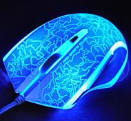 Rapoo v20s gaming mouse ottico programmabile respirazione professionale personalizzato luce 3000dpi 7 tasti programmabili indipendentemente