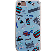 Car Flag Pattern Painting Touch Feel TPU Border Acrylic Material Phone Case For iPhone 7  7Plus 6S 6 Plus