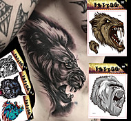 5 Tattoo Stickers Animal Series / Totem Series / Others / Cartoon Series Non Toxic / Pattern / Large Size / Waterproof / 3-DBaby / Child