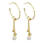 Punk Style Hanging Imitation Pearl Drop Earrings