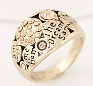 Women European Style Retro Vintage Fashion Simple Alphabet Band Ring