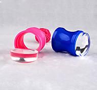 plástico 3,8 centímetros silicone geléia clara recarga cabeça do prego carimbo raspador conjunto com DIY Nail ferramentas de transferência