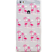 Для huawei p9 lite p8 lite фламинго образец высокая проницаемость tpu материал телефон корпус huawei p9 lite p8 lite y5ii y6ii