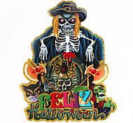 1шт Hallowmas скелет призрак голова наклейка украшать Hallowmas костюм партии