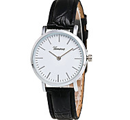 Women's Fashion Quartz Casual Watch Simple PU Belt Two Seconds Round Alloy Dial Watch Cool Watch Unique Watch