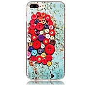 Button Pattern HD Painted TPU Material Phone Shell For iPhone 7 7 Plus 6s 6 Plus