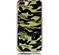 Camouflage Pattern HD Painted TPU Material Phone Shell For iPhone 7 7 Plus 6s 6 Plus