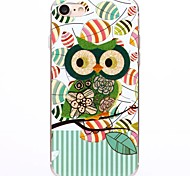 Cartoon Green owl TPU Protection Back Cover Case for iPhone 7/7 Plus/6S/6Plus/SE/5S