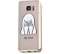 Girl Pattern TPU Environmental Protection Material Phone Case for Samsung S7 S7 edge